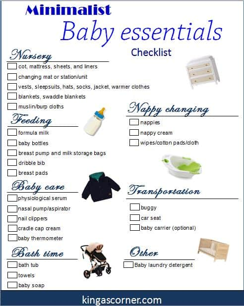 Minimalist Baby Essentials - What you really need