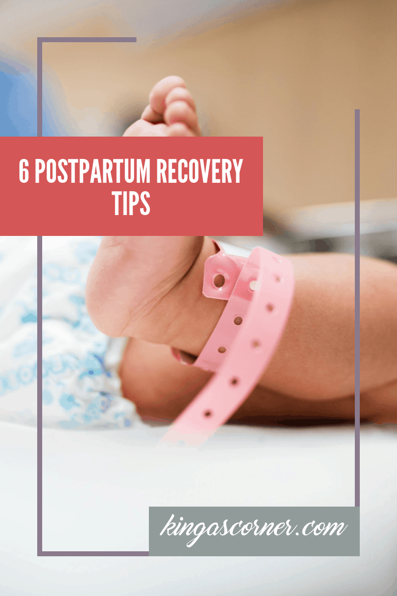 Postpartum Recovery Tips, pin image