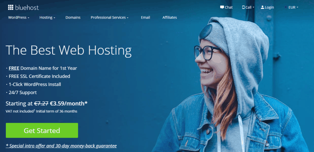 bluehost how to start a mom blog
